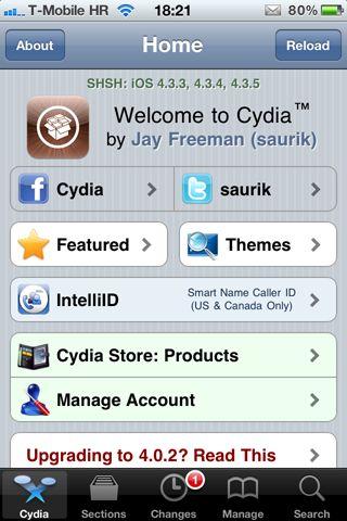 Cydia - spremljeni SHSH blobs