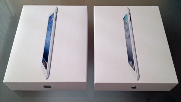 Pakiranje - Lijevo Novi iPad, desno iPad 2