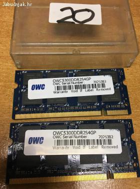 OWC 2x2 GB SODIMM