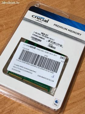 Crucial 16GB DDR3 1600MHz SO-DIMM Kit za MAC