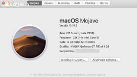 iMac 21,5 late 2013 odlično stanje - OSIJEK